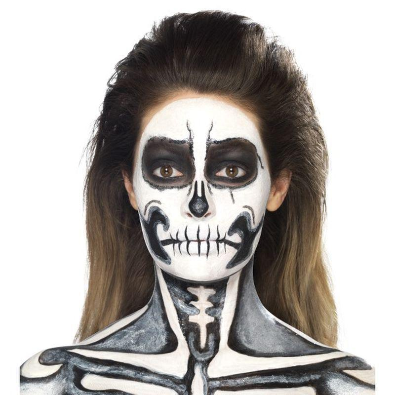 Skeleton Liquid Latex Kit Adult Black - Cosmetics & Disguises Mad Fancy Dress