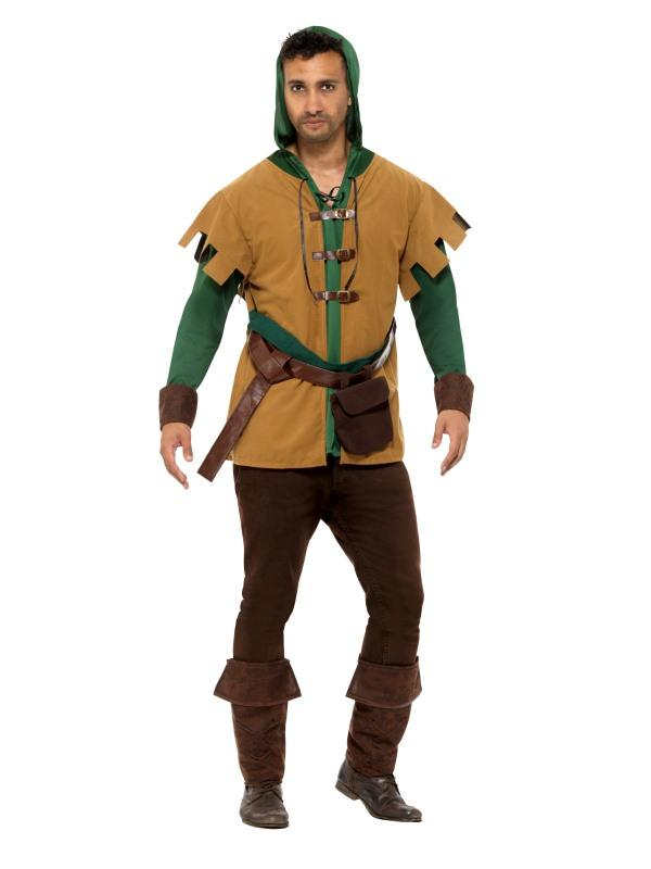 Robin Of The Hood Costume Adult Green