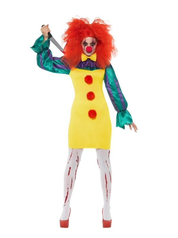 Classic Horror Clown Lady Costume Adult Multi
