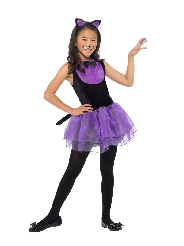 Cat Costume Child Black/Purple