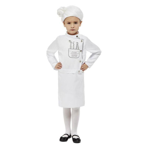 David Walliams Deluxe Demon Dentist Costume, White