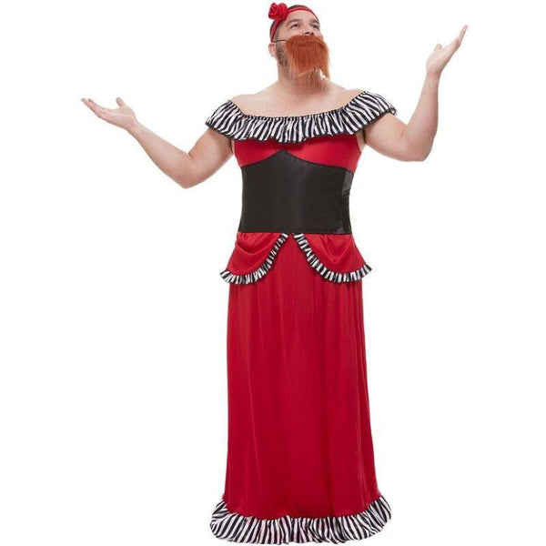 Bearded Lady Costume Adult Red