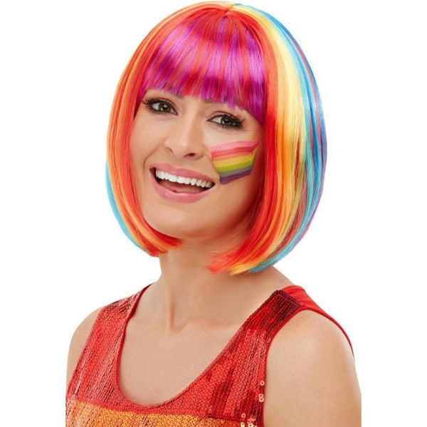 Rainbow Bob Wig Adult Multi