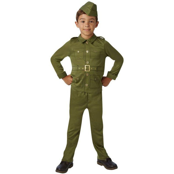 Ww2 Army Boy - Childrens Fancy Dress Costume