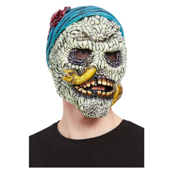 Barnacle Skull Pirate Overhead Mask, Latex