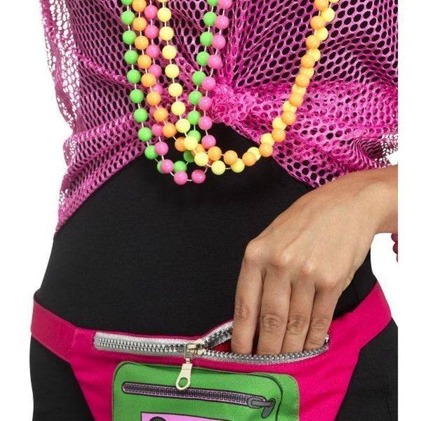 80S Bumbag Adult Multi - 1980S Mad Fancy Dress