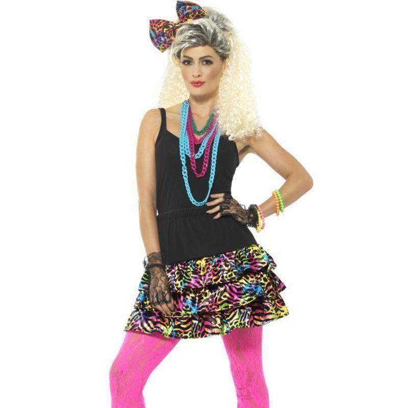 80S Party Girl Kit Adult Black - 1980S Mad Fancy Dress