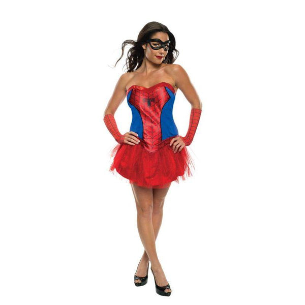 Secret Wishes Women's Marvel Universe Secret Wishes Spider-girl Costume Tutu Dress And Mask