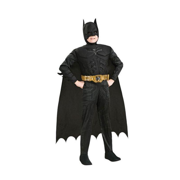 Batman Dark Knight Rises Child's Deluxe Muscle Chest Batman Costume With Mask