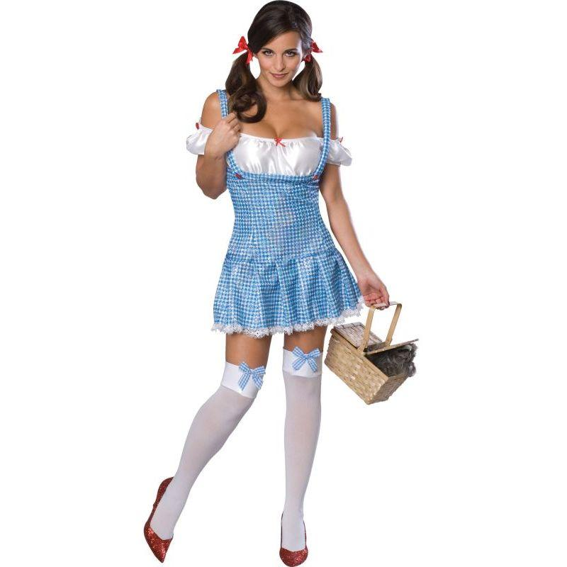 Rubie's Wizard Of Oz Sexy Dorothy Sequin Adult Costume Blue