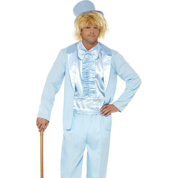 90S Stupid Tuxedo Costume Adult Blue - 1990S Theme Fancy Dress Mad Fancy Dress
