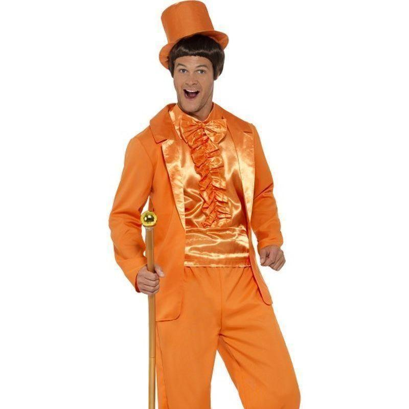 90S Stupid Tuxedo Costume Adult Orange - 1990S Theme Fancy Dress Mad Fancy Dress