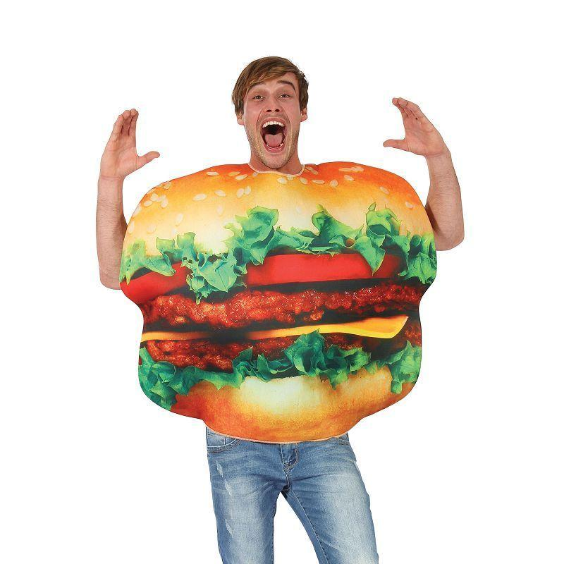 Burger Costume |Adult Costumes| Male One Size Fits Most - Generic Mens Costumes Mad Fancy Dress