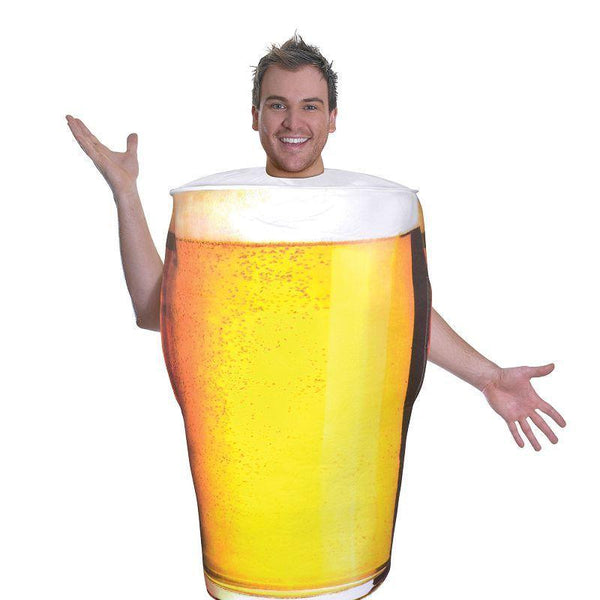 Mens Pint Of Beer Costume |Adult Costumes| Male One Size Halloween Costume - Generic Mens Costumes Mad Fancy Dress