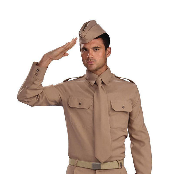 Mens Ww2 Private Soldier Adult Costume Male One Size Halloween Costume - Generic Mens Costumes Mad Fancy Dress
