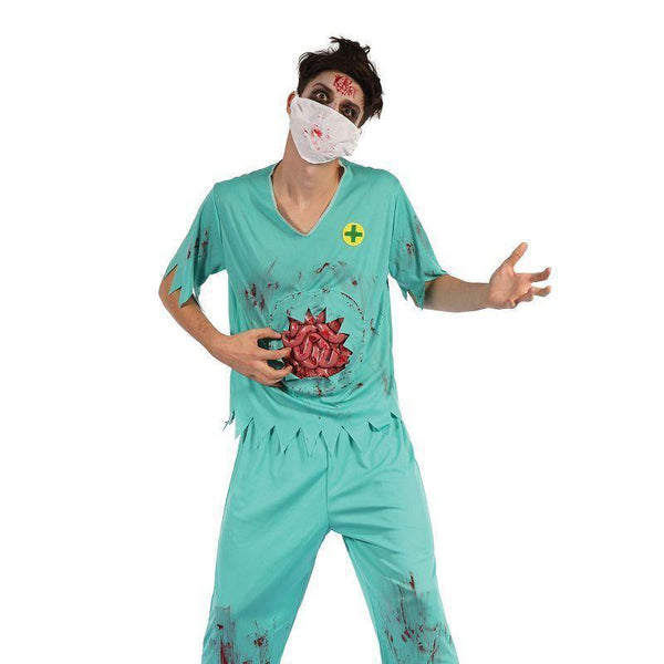 Zombie Surgeon Man |Adult Costumes| Male One Size Fits Most - Generic Mens Costumes Mad Fancy Dress