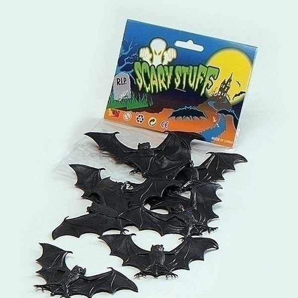 Scary Creatures Bats |8Pcs/pkt| |Animal Kingdom| Unisex 8 Per Pack - Animal Kingdom Mad Fancy Dress