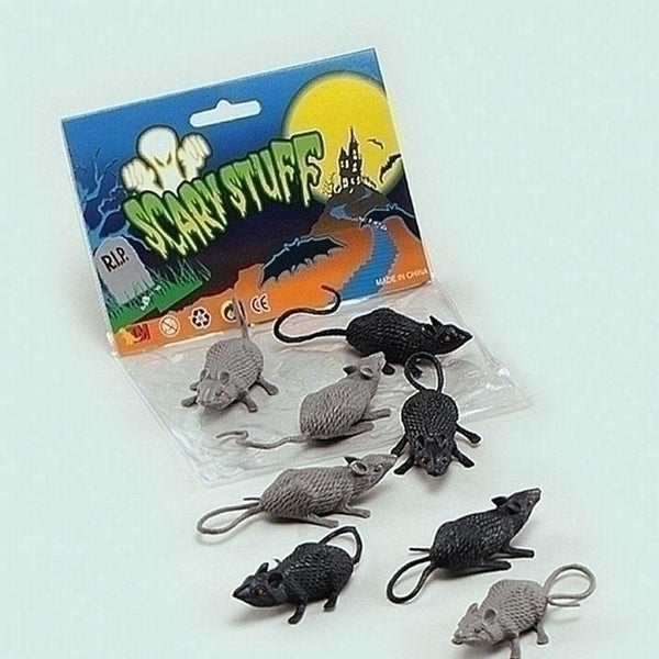 Scary Stuff Mice |8/pkt| |Animal Kingdom| Unisex 8 Per Pack - Animal Kingdom Mad Fancy Dress
