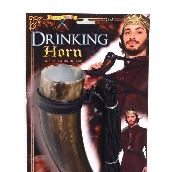 Mens Drinking Horn |Medieval| |Costume Accesories| Male One Size Halloween Costume - Costume Accessories Mad Fancy Dress