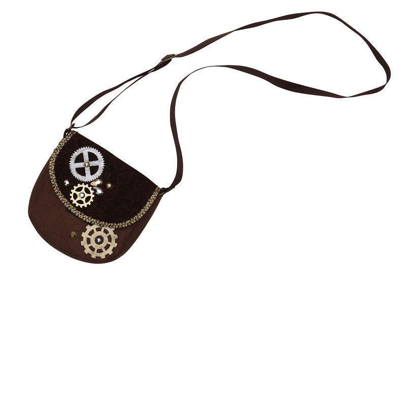 Steampunk Bag |Costume Accessories| Female One Size Fits Most - Costume Accessories Mad Fancy Dress