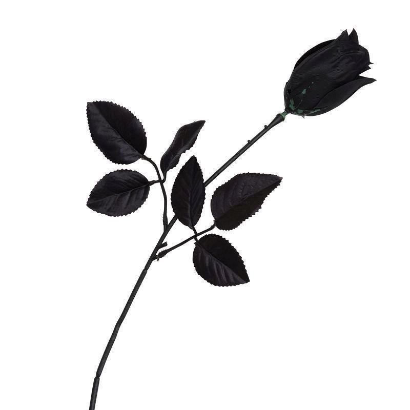Rose Black |Costume Accessories| Unisex One Size Fits Most - Costume Accessories Mad Fancy Dress