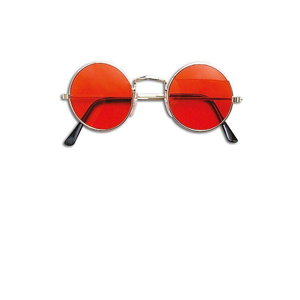 Lennon Glasses Orange |Costume Accessories| Unisex One Size - Costume Accessories Mad Fancy Dress