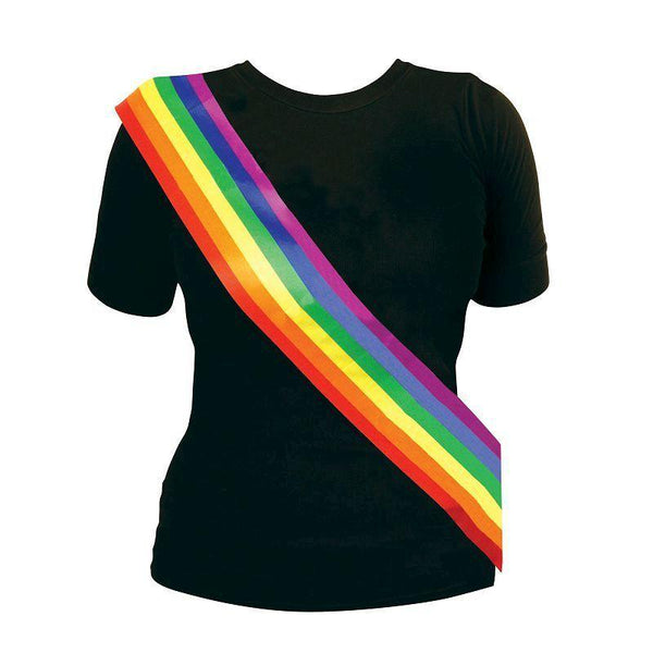 Rainbow Sash |Costume Accessories| One Size Fits Most - Costume Accessories Mad Fancy Dress