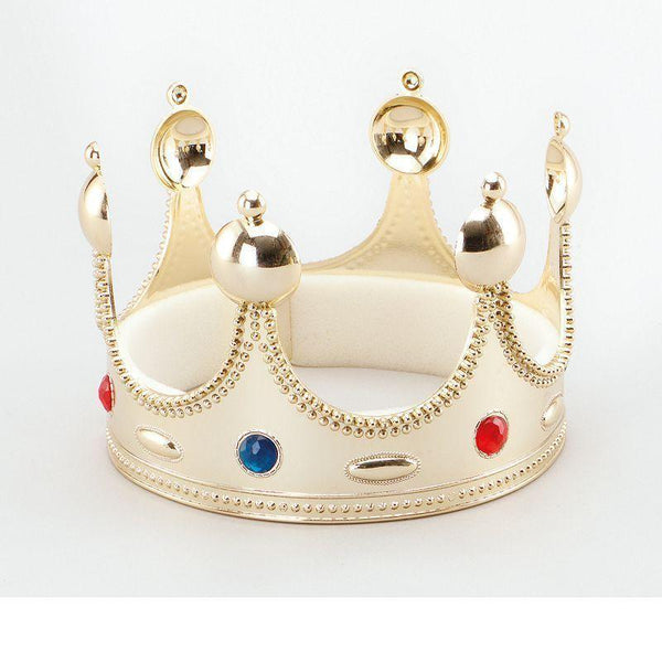 Mens Kings Crown Superior Gold |Costume Accessories| Male One Size Halloween Costume - Costume Accessories Mad Fancy Dress