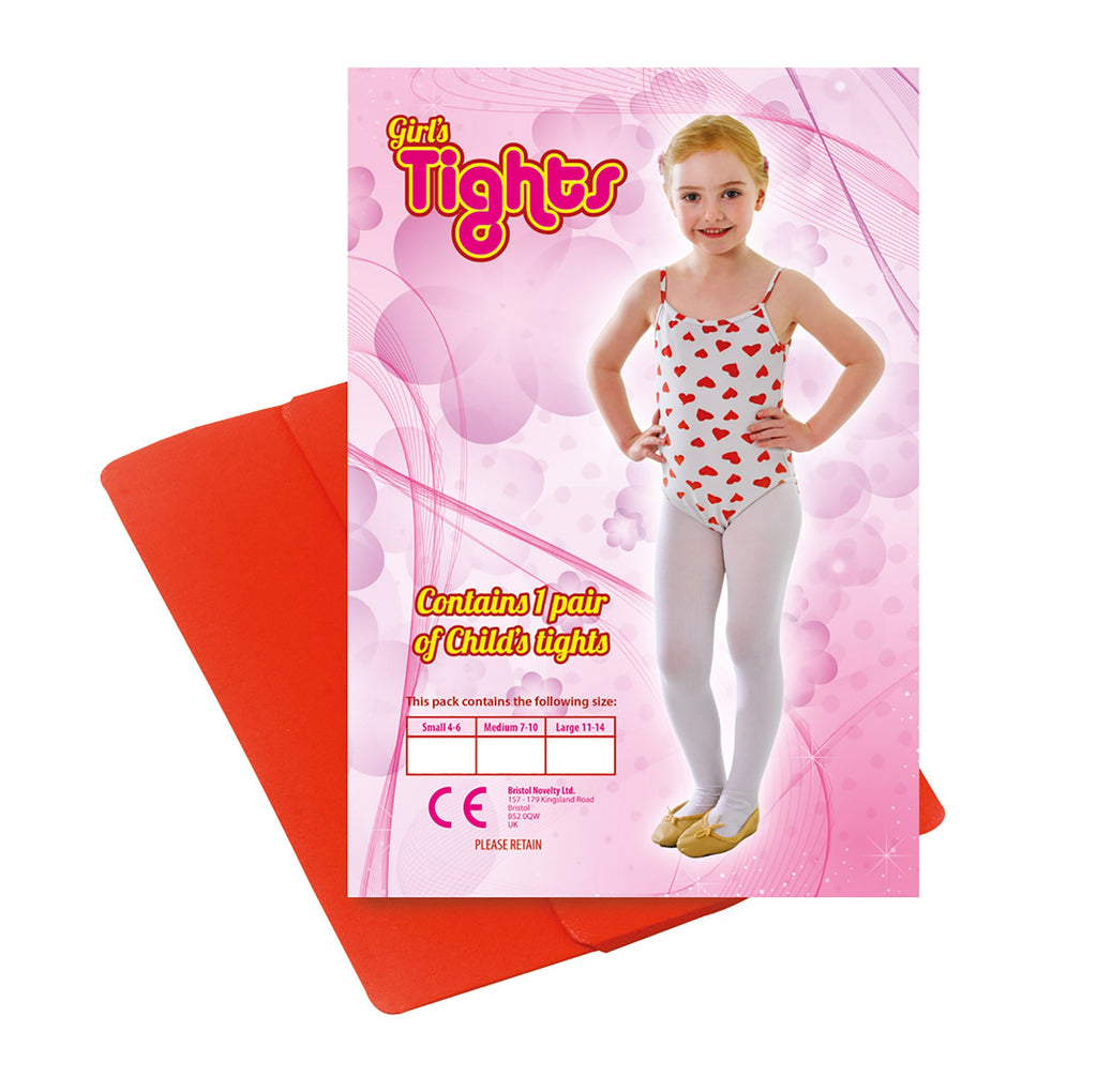 Childs Tights Red 4 6 Small Accessories 4 6 years Small