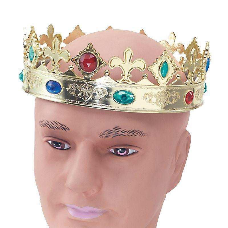 Regal Crown |Costume Accessories| Unisex One Size - Costume Accessories Mad Fancy Dress
