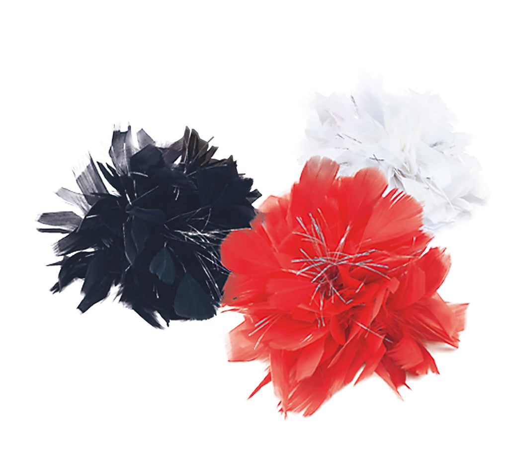 Hair Clip Red Feather Tinsel Accessories Womens One Size