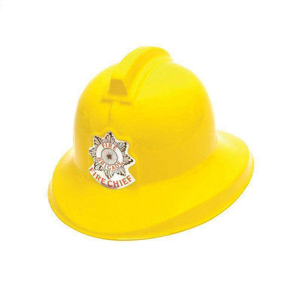 Fireman Helmet Yellow Plastic |Hats| Unisex One Size - Hats Mad Fancy Dress