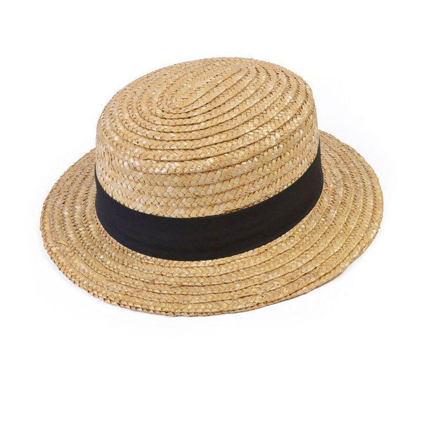 Straw Boaters Budget |Hats| Unisex One Size - Hats Mad Fancy Dress