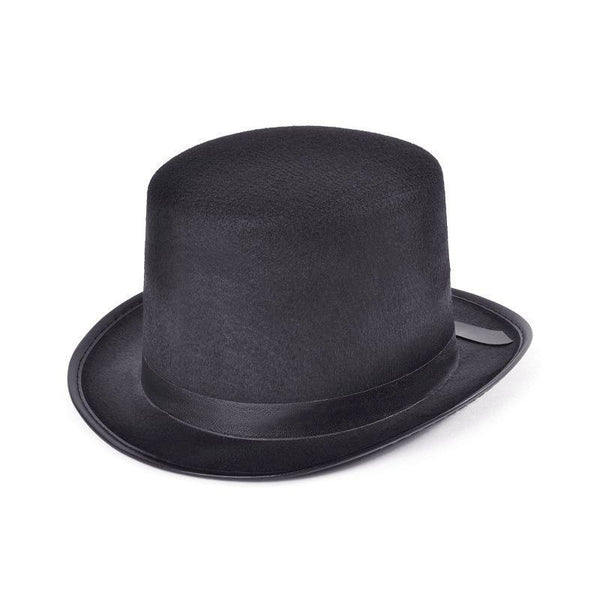 Mens Top Hat Felt Black /budget |Hats| Male One Size Halloween Costume - Hats Mad Fancy Dress