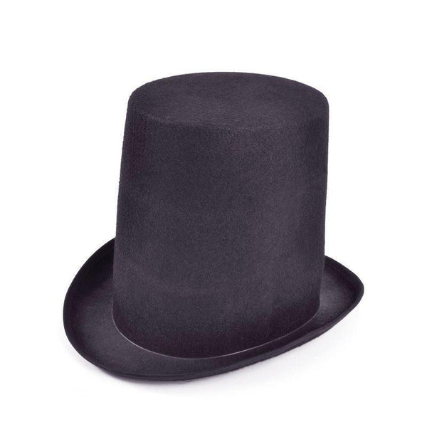 Mens Stovepipe Top Hat Budget |Hats| Male One Size Halloween Costume - Hats Mad Fancy Dress