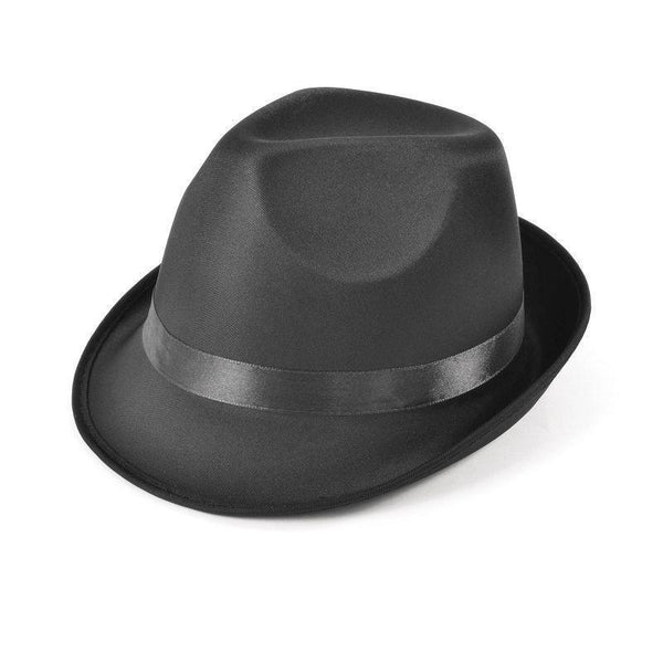Madness Hat Black Fedora |Hats| Unisex One Size - Hats Mad Fancy Dress