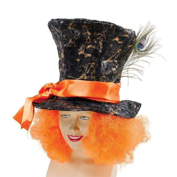 Mad Hatter Hat + Hair |Hats| Unisex One Size - Hats Mad Fancy Dress