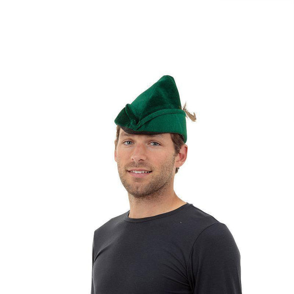 Robin Hood Hat Soft Felt |Hats| Unisex One Size - Hats Mad Fancy Dress