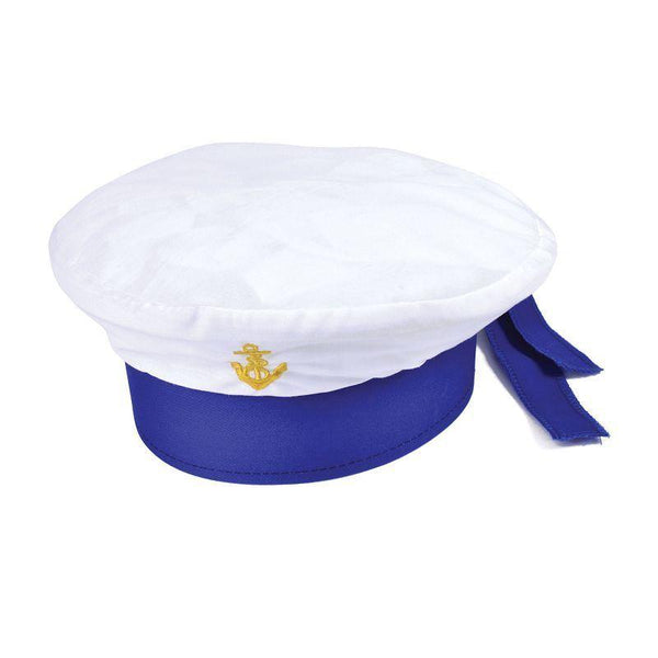 Sailor Hat Childs Size |Hats| One Size Fits Most - Hats Mad Fancy Dress