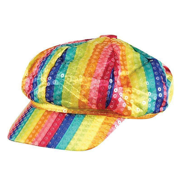 Rainbow Sequin Cap |Hats| One Size Fits Most - Hats Mad Fancy Dress