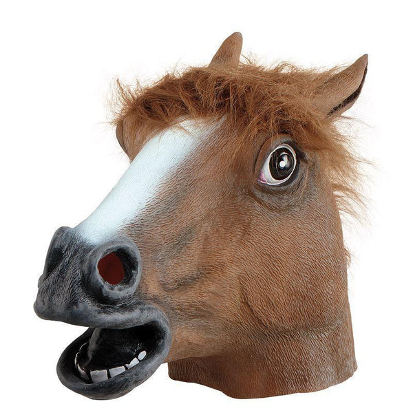 Animal Rubber Ohead Mask Horse |Rubber Masks| Unisex One Size - Masks Mad Fancy Dress