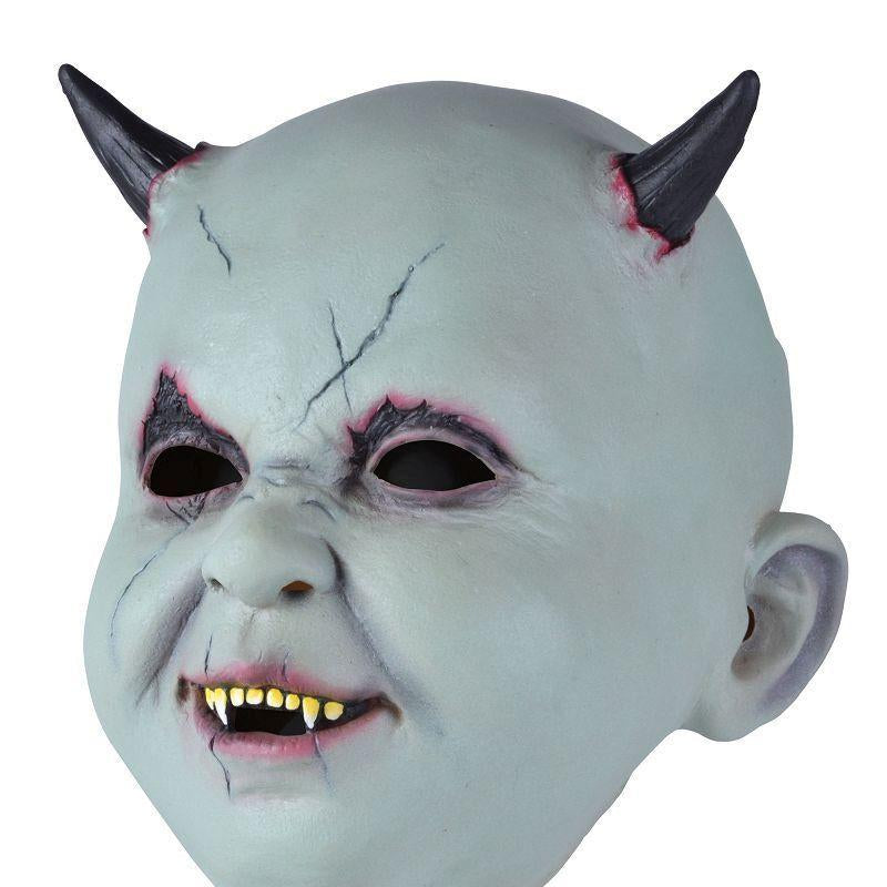 Baby Devil Mask |Rubber Masks| Male One Size - Masks Mad Fancy Dress