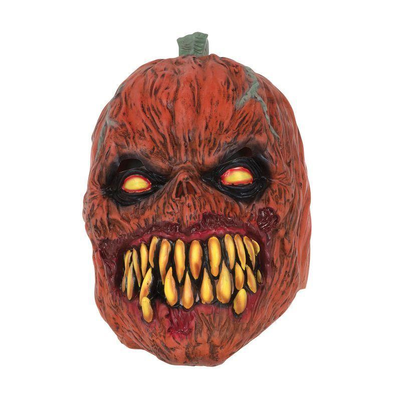 Pumpkin Horror Mask Latex |Rubber Masks| One Size Fits Most - Masks Mad Fancy Dress
