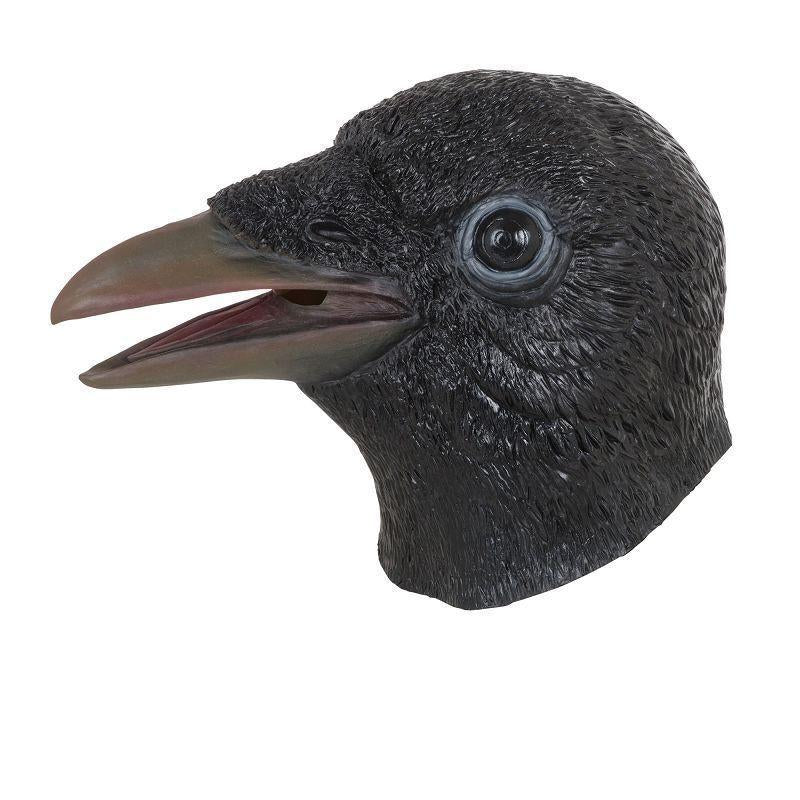 Crow Mask |Rubber Masks| Unisex One Size Fits Most - Rubber Masks Mad Fancy Dress