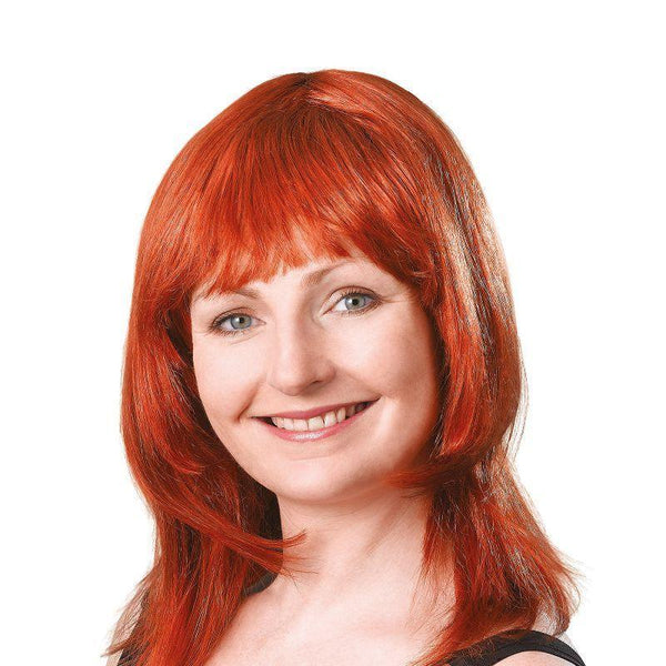 Womens Layered Female Wig Ginger |Wigs| Female One Size Halloween Costume - Ladies Wigs Mad Fancy Dress