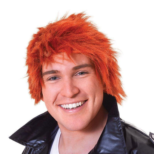 Mens Chisel Wig Ginger |Wigs| Male One Size Halloween Costume - Mens Wigs Mad Fancy Dress