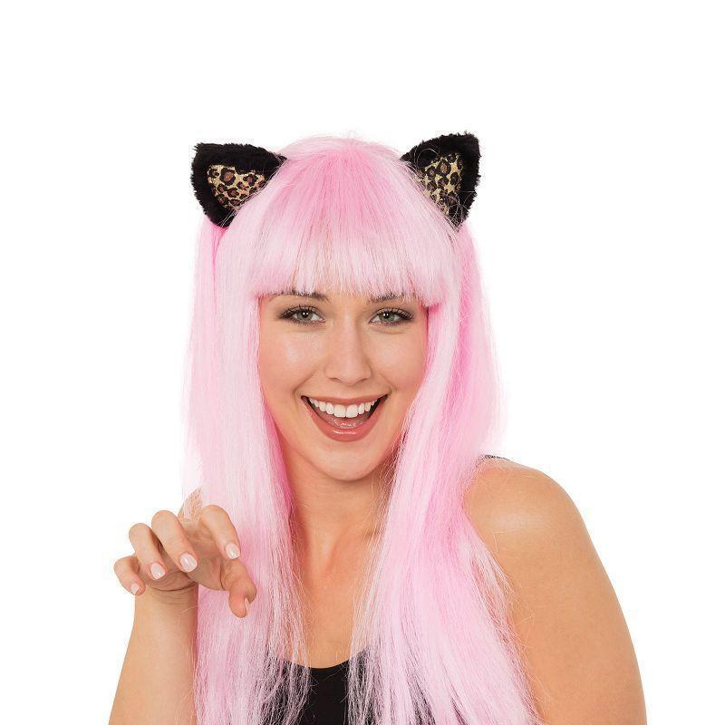 Cat Wig With Ears Pink |Wigs| Female One Size - Wigs Mad Fancy Dress