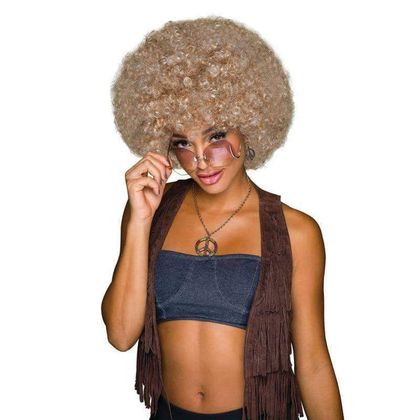 70s Afro Blonde/Brown Wig