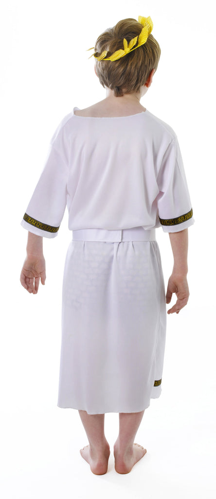 Greek Boy Large Childrens Fancy Dress Costumes Boys Large 9 12 years White