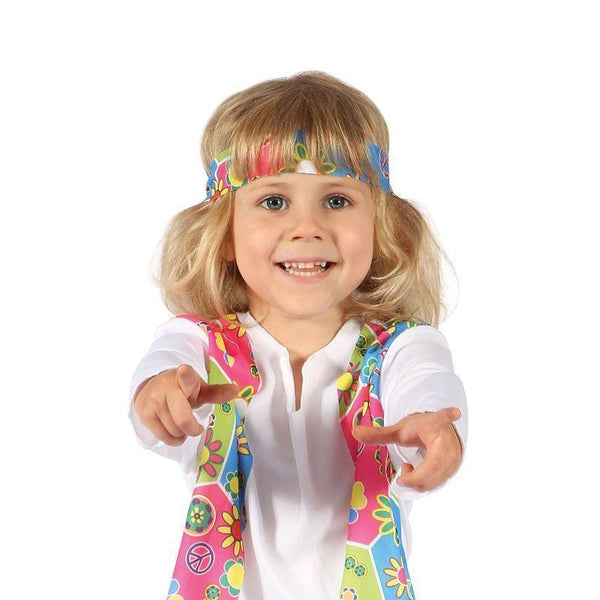 Girls Hippy Girl Toddler| Childrens Costumes| Female 128Cm Halloween Costume - Girls Costumes Mad Fancy Dress